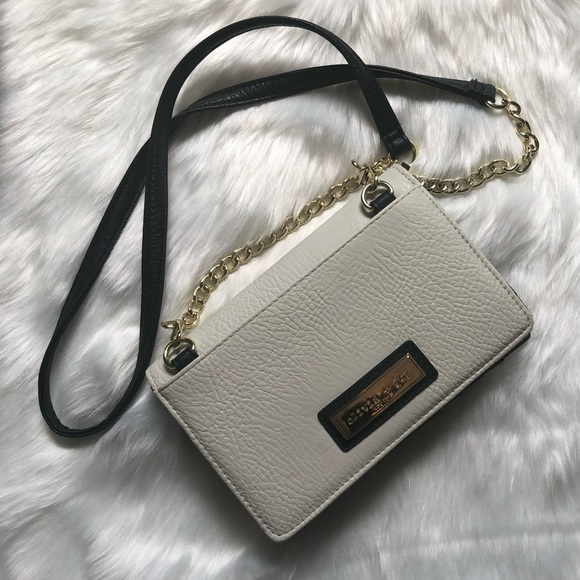 Olivia + Joy Handbags - OLIVIA + JOY Ivory/Black Clutch/Wallet